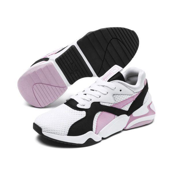 Nova '90s Bloc Women's Sneakers, Puma White-Pale Pink, large ...
