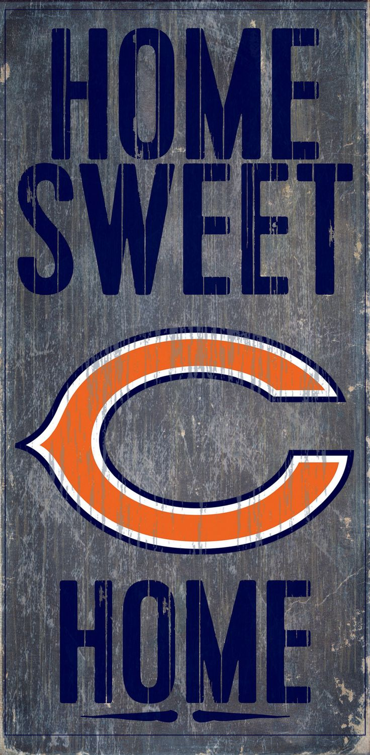 Chicago bears bathroom accessories - Chicago Bears Wood Sign Home Sweet Home 6 X12
