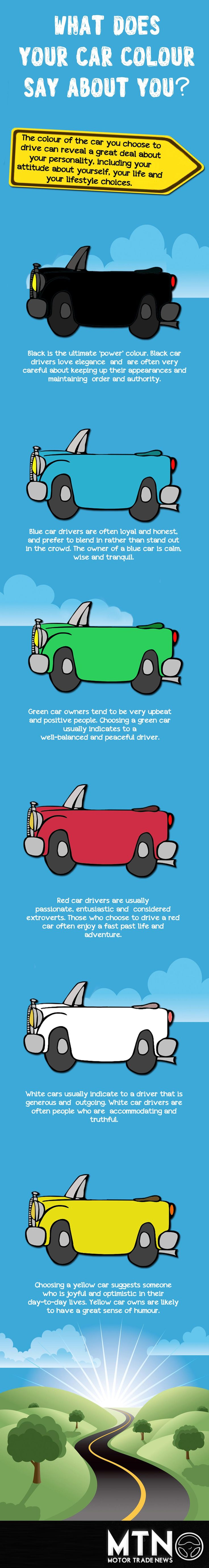 What does your car colour say about you? http://www.motortradenews.org/what-does-your-car-colour-say-about-you/ #cars