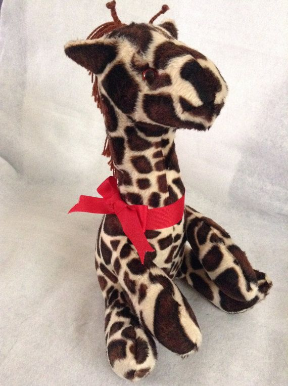 Baby Giraffe in soft fur fabric by SewingSunbeams on Etsy