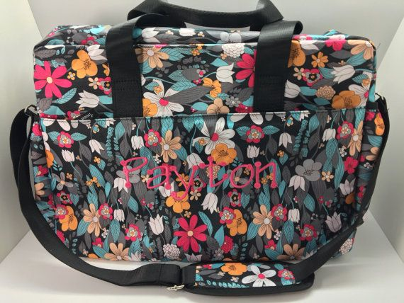 68 best baby gifts images on pinterest baby presents porch personalized baby girl diaper bag with floral pront and monogram negle Choice Image
