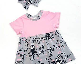 Babykleding Print.Konijn Baby Meisje Jurkje Jurk Baby Jurk T Shirt Jurk
