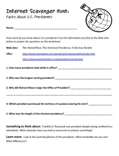 Printables Internet Scavenger Hunt Worksheet world education and scavenger hunts on pinterest