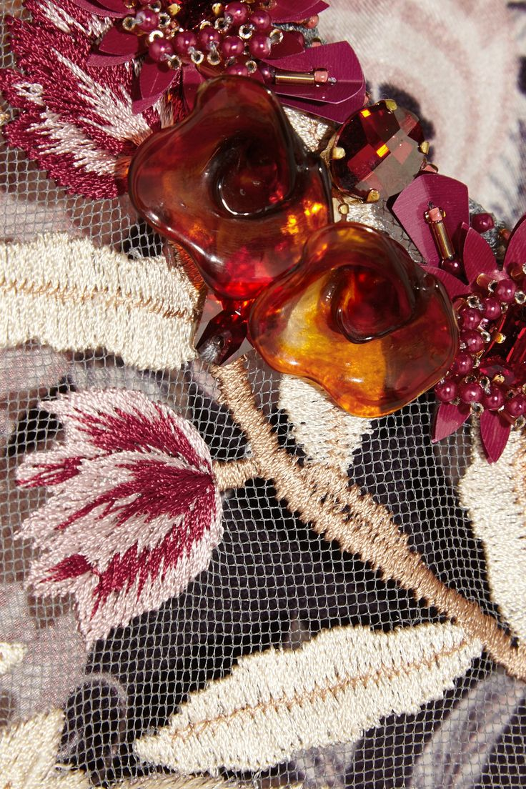 Biyan Lotta embroidered tulle and silk dress NET-A-PORTER.COM
