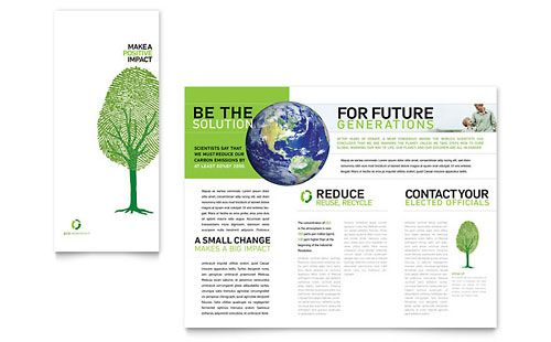 Environmental Non Profit - Tri Fold Brochure Template Design