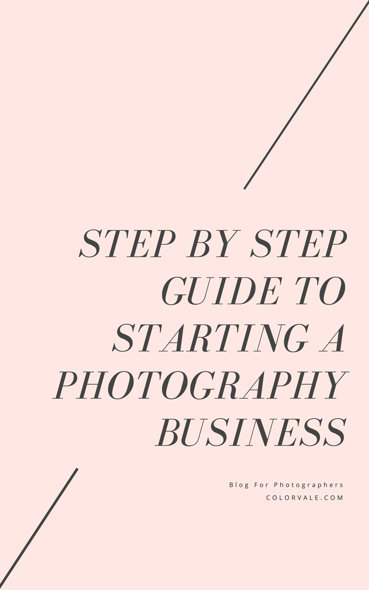 STEP BY STEP GUIDE TO STARTING A PHOTOGRAPHY BUSINESS