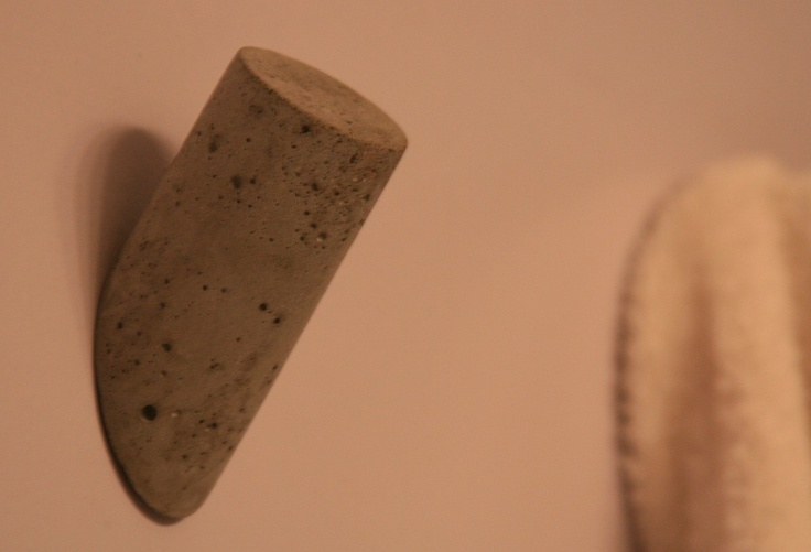 Round Concrete Wall Hooks by Kyle Bragg #Hook #Concrete