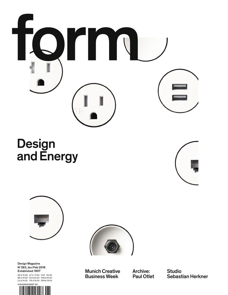 form N° 263. 2016. Design and Energy. Art Direction: Carolin Blöink, Susanne Heinlein, Sarah Schmitt; photo: Bocci © Verlag form GmbH & Co. KG