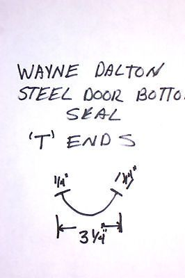 Garage Door Parts and Accs 179687: Bottom Weather Seal For Wayne Dalton Garage Doors With 1 4 T Ends -> BUY IT NOW ONLY: $30.5 on eBay!