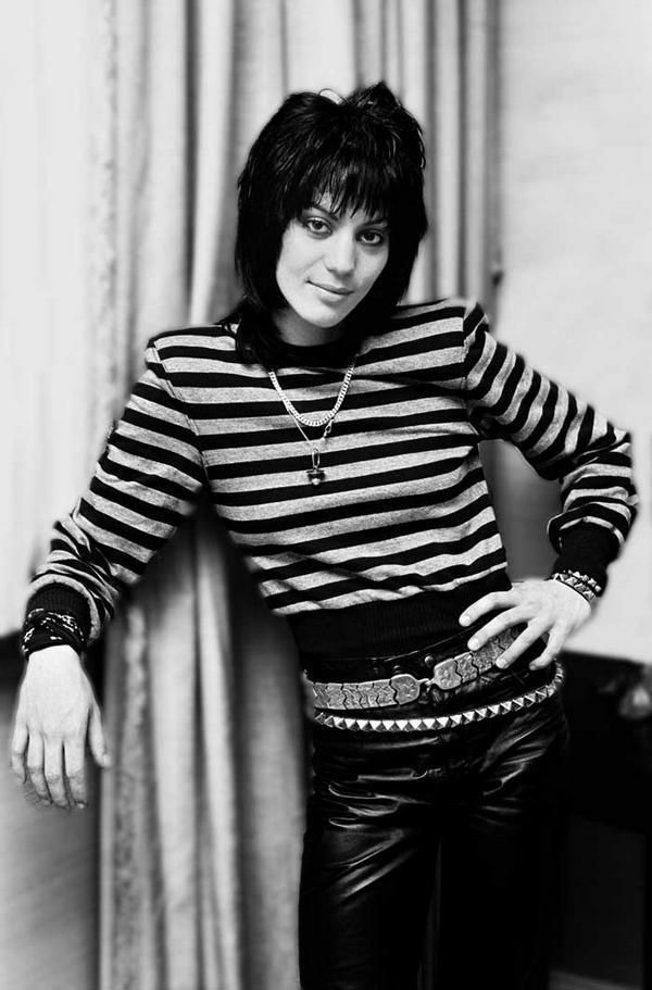 """Joan Jett (born Joan Marie Larkin; September 22, 1958) is an American rock guitarist, singer, songwriter, producer and occasional actress, best known for her work with Joan Jett & the Blackhearts, including their hit record """"I Love Rock 'n' Roll""""."""
