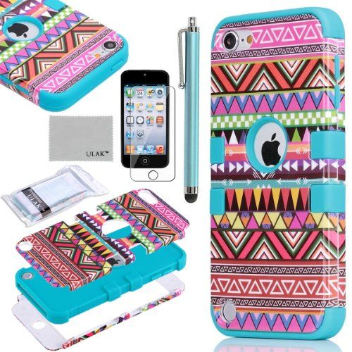 Pandamimi ULAK (TM) Hybrid Pink Hard Aztec Tribal Pattern + Blue Silicon Case Cover For Apple iPod Touch (Generation 5) +Screen Protector +Stylus ULAK,http://www.amazon.com/dp/B00BUFBQWU/ref=cm_sw_r_pi_dp_rRX1sb1K10NAWQ3E