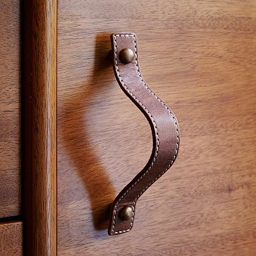Leather hardware by West Elm