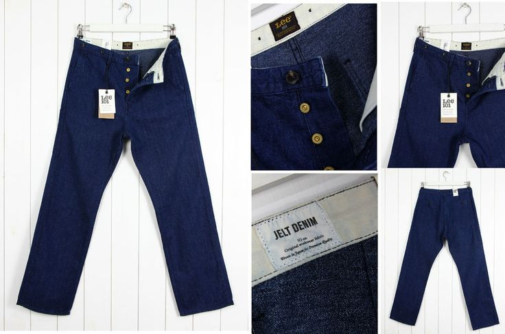 NEW  LEE 101 WORKER CHINO 10OZ JELT DENIM VINTAGE JEANS STRAIGHT FIT _ ALL SIZES