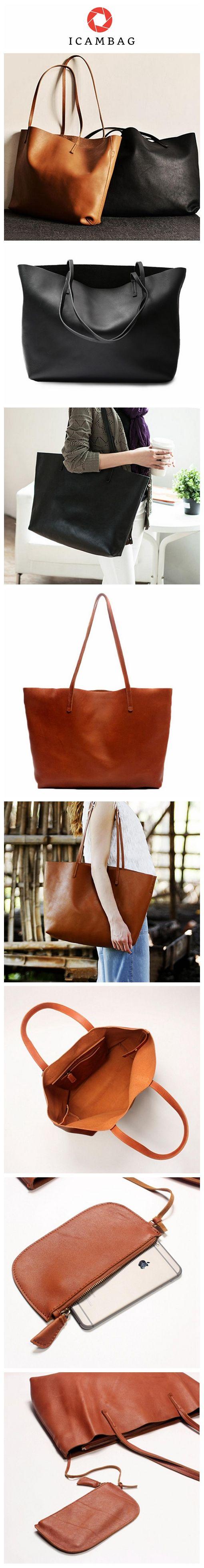 Handmade Modern Fashion Genuine Leather Big Large Tote Bag Handbag For Women Leather Men's and Women's Shopping Bag