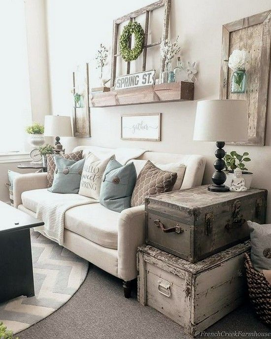 44+ best cozy farmhouse living room decor ideas 43