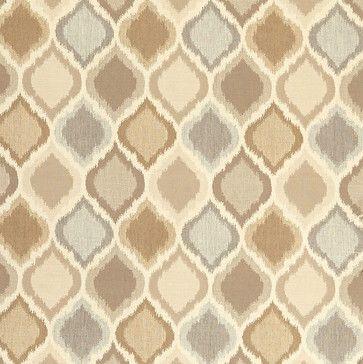 Diamond Ikat Taupe Sunbrella Fabric by the Yard - mediterranean - Outdoor Fabric - Ballard Designs