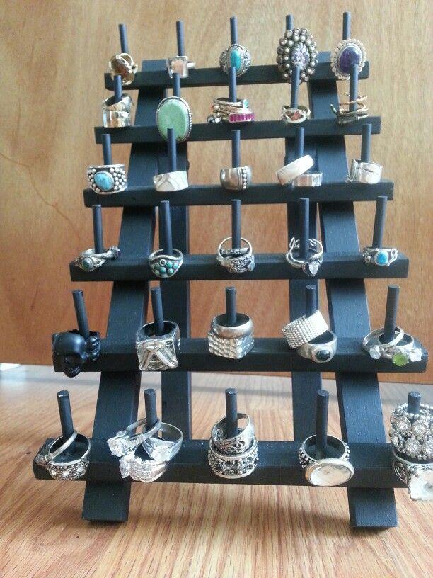 Spool organizer turned ring holder