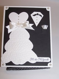 What a great wedding card made from punch art!