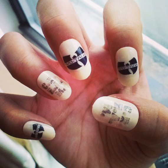 NAIL DECALS - Wu Tang Clan on Etsy, $7.00
