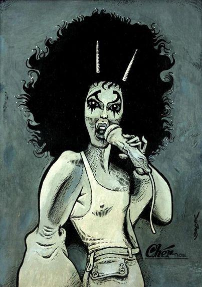 Artwork by Kaja Saudek, Cher, Made of oil, hardboard