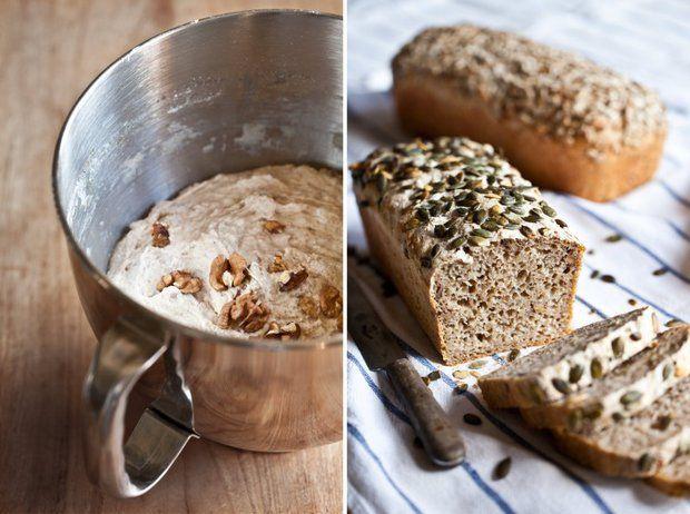 Celozrnný chléb bez hnětení 2