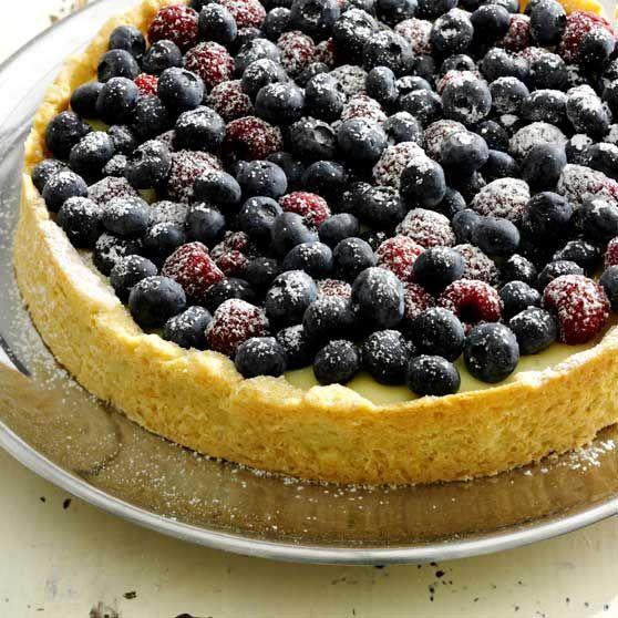 Sommertærte -http://www.dansukker.dk/dk/opskrifter/sommertaerte.aspx #dansukker #opskrift #sommer #blåbær #tærte #pie #kage #cake #spis #eat #food #mad #snack #inspiration
