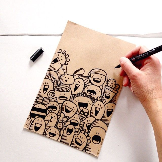 One happy bag! #illustration #drawing #doodle #sketch #paperfuel