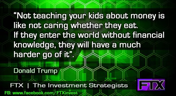 Financially educating your kids... (Trump)