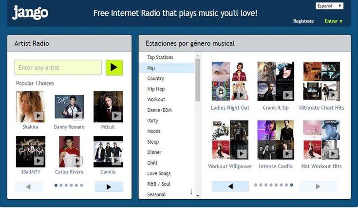 Jango es una página con una gran colección de radios musicales para escuchar en…