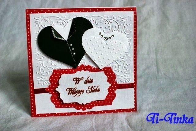 hand made wedding card by Ti-Tinka