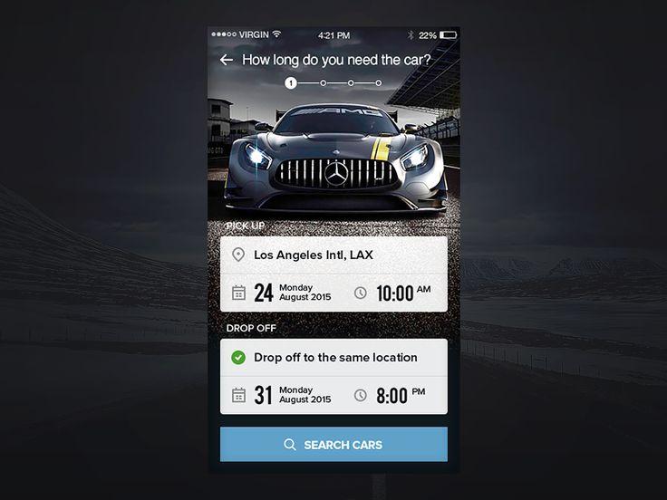 Rent a Car Service App by Anna A
