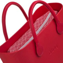 Canvas Inner Bag - Red Pattern - O bag Accessory by Fullspot