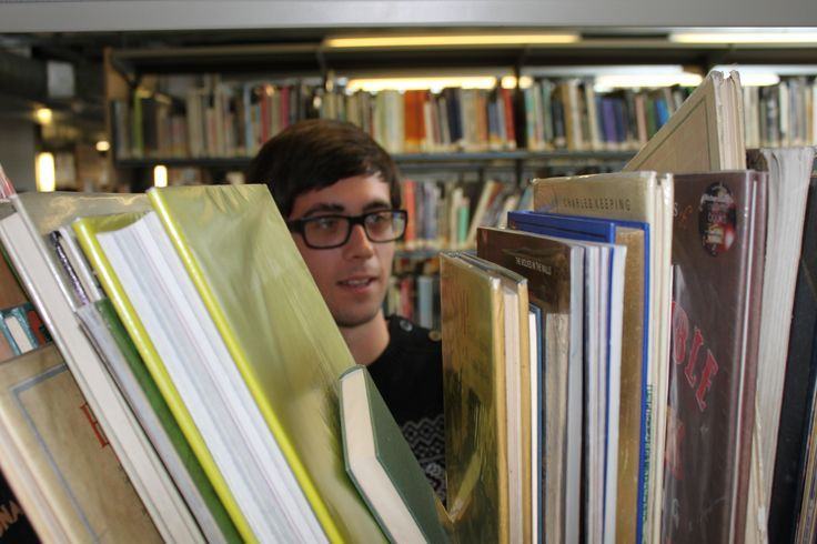 #Student in the University Library #Canterbury