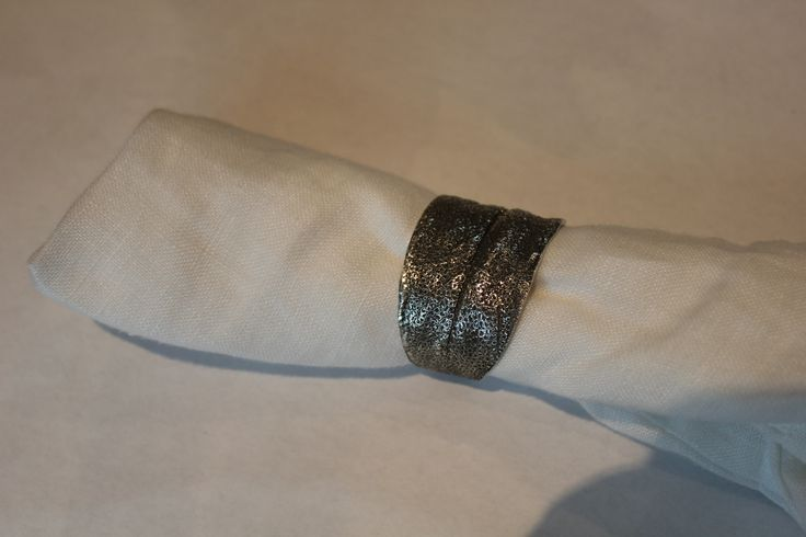 Sterling Silver Sage Napkin Rings