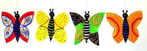 OpaBilder/basteln-bunte-Schmetterlinge-Pappteller-Tonpapier-Acrylfarben