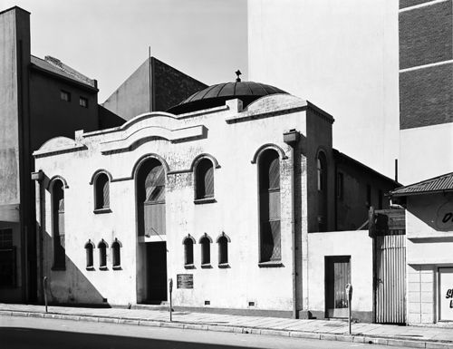 Poshwohl Synagogue, Mooi Street. Constructed by Lithuanian Jews from the town of Poshwohl.