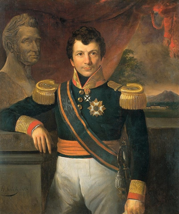 Count Johannes Van Den Bosch, 1836, by Raden Saleh - Van Den Bosch (1780-1844) was a Dutch Lieutenant General & politician. Born at Herwijnen in the Netherlands, Van Den Bosch arrived in Java in 1797 as a lieutenant, but was quickly promoted to colonel. He departed in 1810, because of differences with Governor-General Daendels. After his return to Holland in November 1813 he agitated for the return of the House of Orange. He was made Governor-General of Jakarta in 1830 - Rijksmuseum…