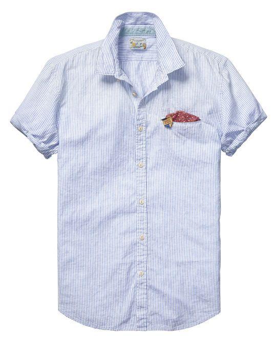 Linen blue series shirt