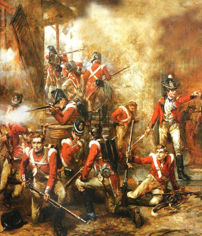 Waterloo:  the Guards defend Hougoumont