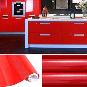 Aruhe® 5M papier peint rouleaux Reconditionné pour Armoires de cuisine PVC Self Adhesive autocollant Meubles porte fenêtre Mur Affiches…
