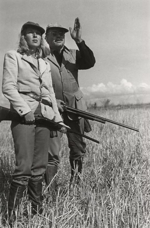 What to wear birding--minus the rifle. Martha Gellhorn and Ernest Hemingway | ROBERT CAPA