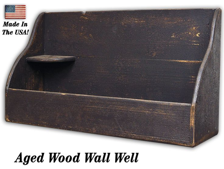Aged Wood Wall Well at KP Creek Gifts! Made in the USA.