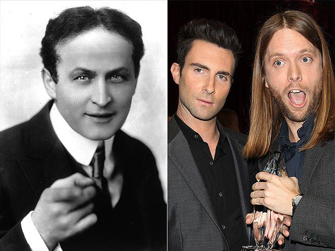 "No stage fright here! Adam Levine and his band mates recorded their 2007 album, It Won't Be Soon Before Long, in Harry Houdini's allegedly haunted Los Angeles home. Guitarist James Valentine even claims he saw a ghost on the stairs. ""It must have been benevolent – I never felt any bad vibes,"" he told PEOPLE."