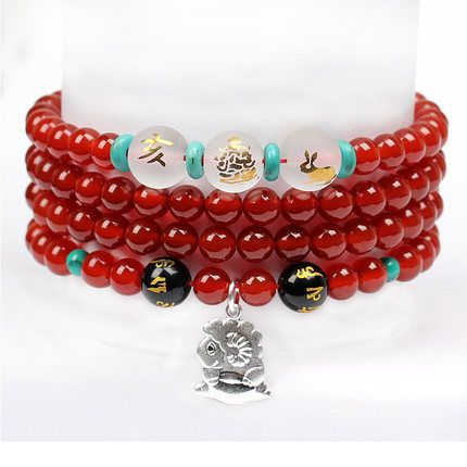 Zxcvbnmshop Natural Agate 6mm Beads Round Loose Beads Elastic Stretch Bracelet Free Shopping $52.00