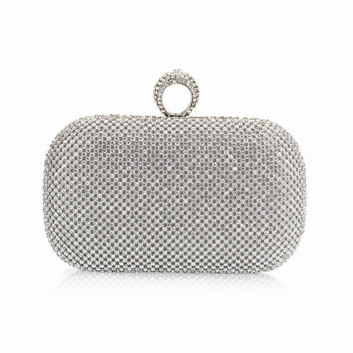 Full Diamond Finger Ring Evening Clutch //Price: $29.68 & FREE Shipping // #purse #backpack #bagsdesigns