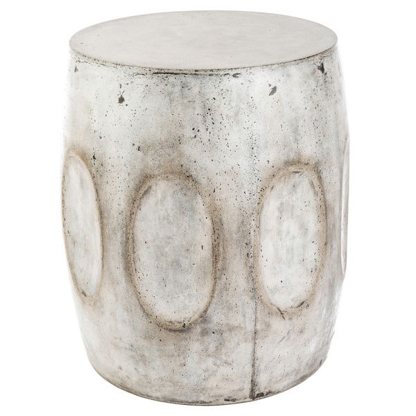 Eco concrete drum stool vietnam overstockcom shopping for Concrete drum coffee table