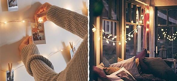 25 τέλειες ιδέες διακόσμησης με φωτάκια  #Διακόσμηση