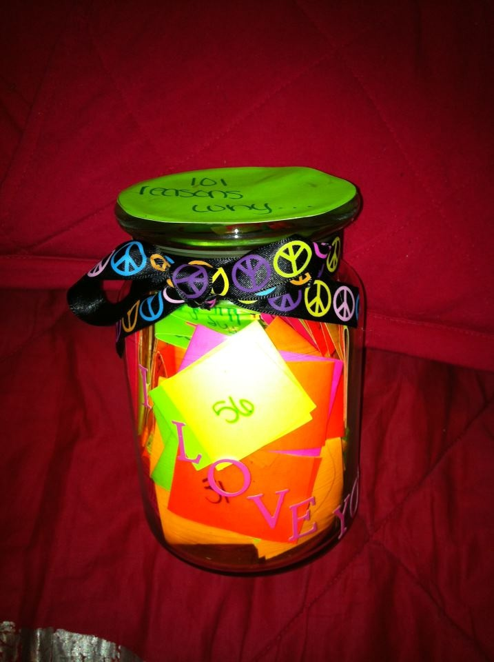 My 101 reasons why I love him jar