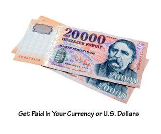 Get Paid In Your valuta vagy amerikai dollár