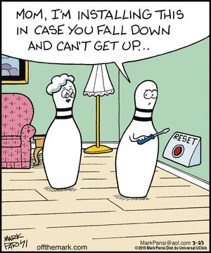 "Fall and can't get up...    - ""Off the Mark"" by Mark Parisi;  3/23/15 ..."